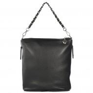 Dámská kožená kabelka FACEBAG EMMA I. - Černá *dolaro*