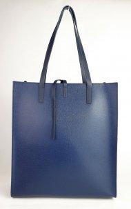 Dámská kožená kabelka FACEBAG REIMS - Tmavá modrá *safiano*