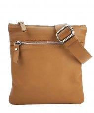 Pánská kožená taška přes rameno FACEBAG PEPE - Cuoio hladká