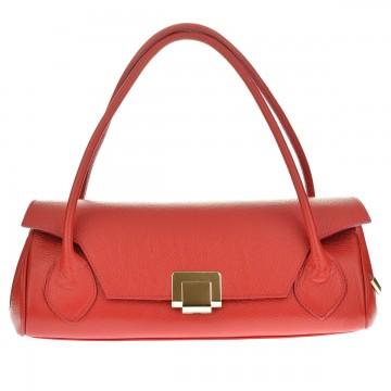 Dámská italská kožená kabelka JUICE - Červená