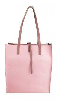 Dámská kožená kabelka FACEBAG REIMS - Růžová *safiano*