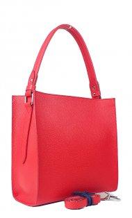 Dámská kožená kabelka FACEBAG ANGE - Červená *dolaro*