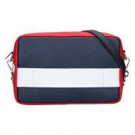 Dámská kožená kabelka FACEBAG NINA  - Modrá + červená + bílá