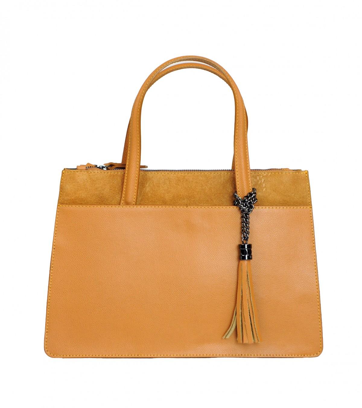 Italská kožená kabelka VALERIE - Cuoio