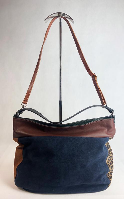 c96576fbf Dámská italská kožená kabelka 2962 - Kombinace kůže + semiš ...