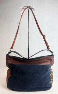 Dámská italská kožená kabelka 2962 - Kombinace kůže + semiš