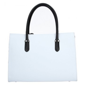 Dámská kožená kabelka FACEBAG VARIA - Bílá