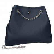 Kožená crossbody kabelka Jade tmavá modrá