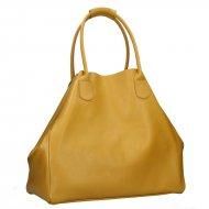 Dámská kožená kabelka FACEBAG MEDA - Tmavá žlutá *dolaro*