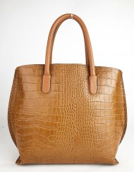 Dámská italská kožená kabelka 4253 - Cuoio *kroko*