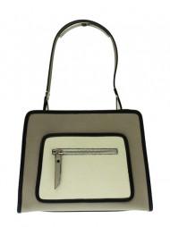 Dámská italská kožená kabelka BEA - Béžová