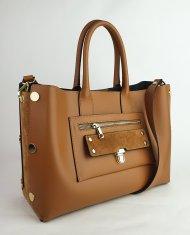 Dámská italská kožená kabelka 2627 - Cuoio *ruga*