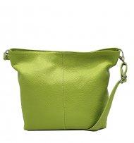 Kožená crossbody kabelka Olivia světle zelená