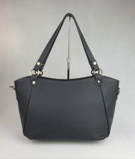 Dámská italská kožená kabelka 5746 - Tmavá šedá