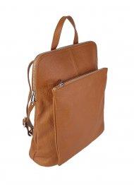 Dámský italský kožený batoh KUBA - Cuoio *dolaro*