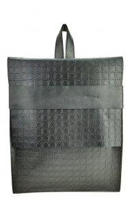 Dámský kožený batoh FACEBAG SERGIO - Černá se vzorem