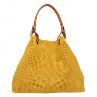 Dámská italská kožená kabelka 3970 - Tmavá žlutá