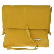 Dámská kožená kabelka FACEBAG NICOLA - Žlutá