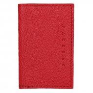 Kožené pouzdro na doklady FACEBAG 115057 - Červená