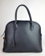 Dámská italská kožená kabelka 3269 - Černá *dolaro*