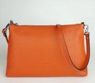 Dámská italská kožená kabelka RIPANI 7083 OJ EASY BAG - Tmavá oranžová *dolaro*