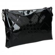 Dámská kožená kabelka FACEBAG SALLY - Černá laková se vzorem