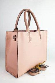 Dámská kožená kabelka FACEBAG LUSSA - Pudrová *palmelato*