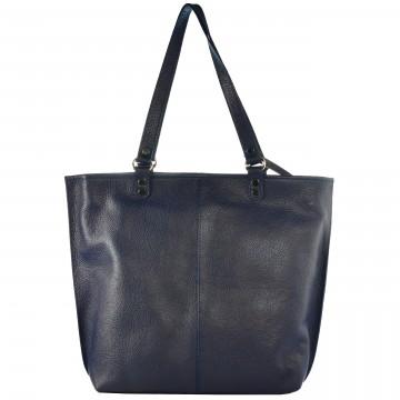 Dámská kožená kabelka FACEBAG WENDY - Tmavá modrá