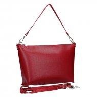 Dámská kožená kabelka FACEBAG RACHEL - Červená *saffiano*