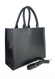Dámská kožená kabelka FACEBAG LUSSA - Černá