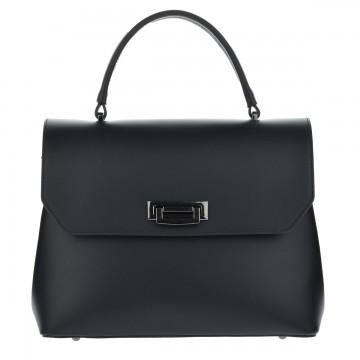 Dámská italská kožená kabelka CESARIA - Černá