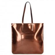 Dámská kožená kabelka FACEBAG CARIBIA - Mosazná