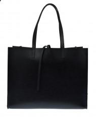 Dámská kožená kabelka FACEBAG CHERI - Černá