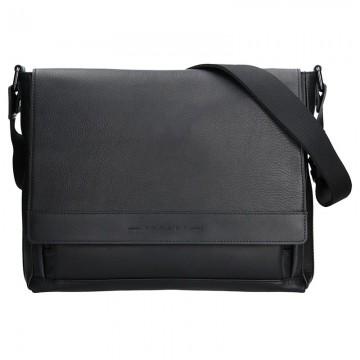RIPANI TITO - pánská kožená taška Černá