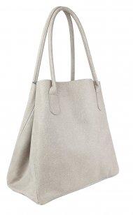 Dámská kožená kabelka FACEBAG TINA - Béžová *vintage*