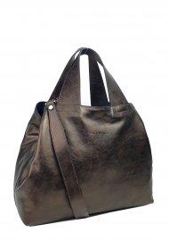 Dámská kožená kabelka FACEBAG SOFI - Tmavá bronzová