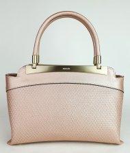 Luxusní dámská kožená kabelka RIPANI 8713 JO 050 CALATEA - Metalická pudrová