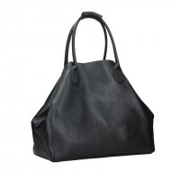 Dámská kožená kabelka FACEBAG MEDA - Černá *dolaro*