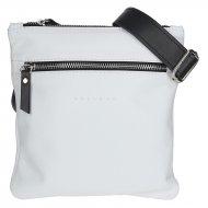Pánská kožená taška přes rameno FACEBAG PEPE - bílo-černá