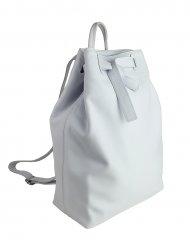 Dámský kožený batoh FACEBAG ELMA - Bílá hladká