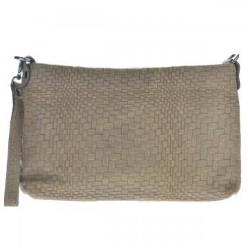 Dámská italská kožená kabelka DOCCA - Béžová
