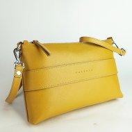 Dámská kožená kabelka FACEBAG MARY - Tmavá žlutá *safiano*