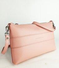Dámská kožená kabelka FACEBAG MARY - Růžová *safiano*