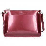 Dámská kožená kabelka FACEBAG - CANNET - Tmavá růžová lak