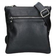 Pánská kožená taška přes rameno FACEBAG PEPE - černá