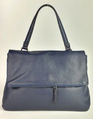 Dámská italská kožená kabelka 5962 - Tmavá modrá *dolaro