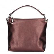Dámská kožená kabelka FACEBAG LEIRA - Tmavý bronz