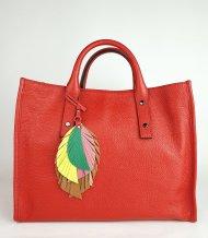Dámská italská kožená kabelka RIPANI 9141 OO 055 SULA - Červená *dolaro*