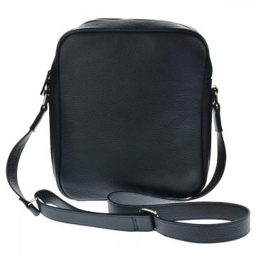 Pánská kožená taška SIRO - Černá