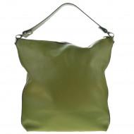 Dámská kožená kabelka FACEBAG CHIARA - Zelená